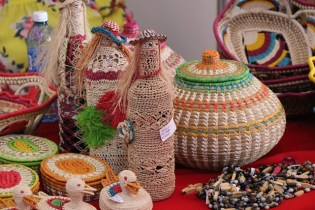 Some of the products displayed by the Ministry of Indigenous Peoples' Affairs.