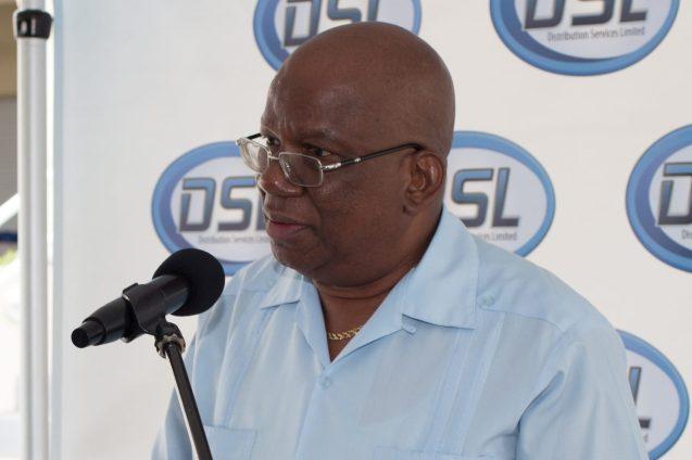 Minister of Finance, Winston Jordan addressing the gathering