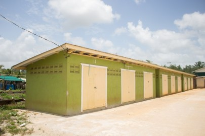 A section of the stalls built by the Ministry of Communities.