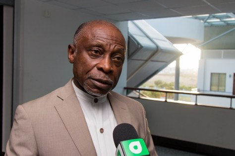 Minister of Foreign Carl Greenidge, who is performing the duties of president.