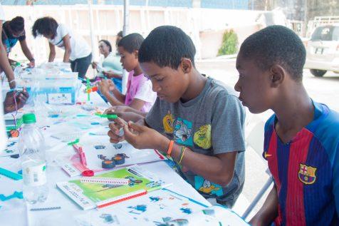 Scenes during the art and robotics mini camp