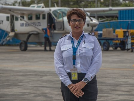 Captain for Air Services Limited, Feriel Ally.