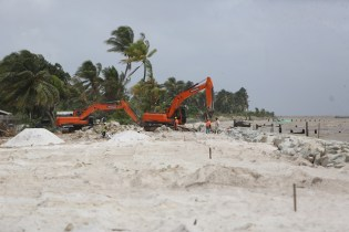 Ongoing works at Zorg, Essequibo Coast.