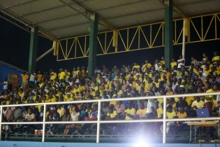 Capacity crowd at the Leonora Track and Field Centre supporting the home team.