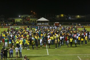 Fans flocking the Leonora Track and Field Centre after the Golden Jaguars roared their way into the Gold Cup.