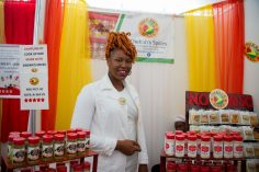 Rodiekah De Freitas displaying her spices