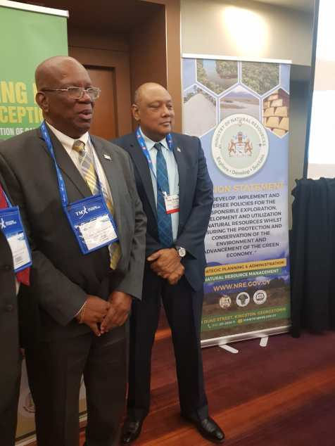 Minister of Finance Hon. Winston Jordan along with Minister of Natural Resources Hon. Raphael Trotman