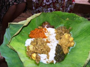 Popular seven curry eaten during the Navratri season.