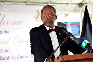 Vice Chancellor of the University of Guyana, Professor Ivelaw Griffith.