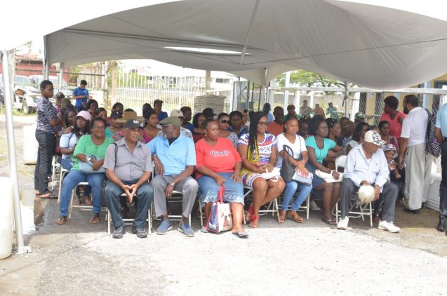 Residents at queuing at the fifth Government outreach at fourth