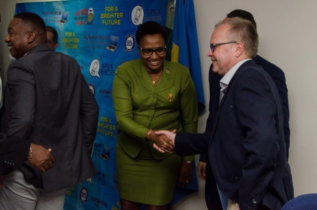 [In the photo, centre] Minister within Ministry of Public Infrastructure, Annette Ferguson.