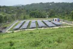 The solar farm located at Khan's Hill, Mabaruma, Region 1.