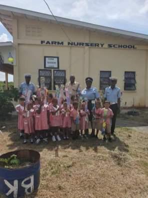 Farm Nursery School Children with their Kites.
