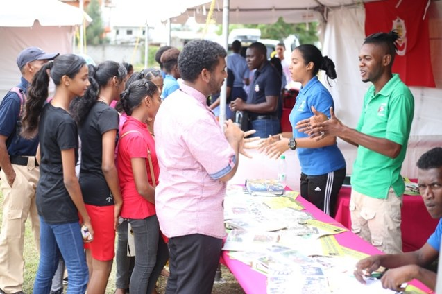 Scenes during the Department of Youth's community outreach.