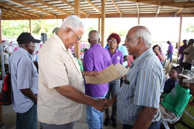 Farmers receiving their leases