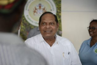 Prime Minister, Moses Nagamootoo during the 'Govt comes to you' outreach