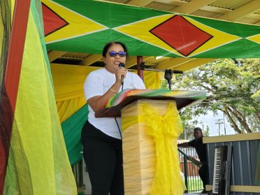Regional Executive Officer, Kim Williams-Stephen while addressing the gathering.