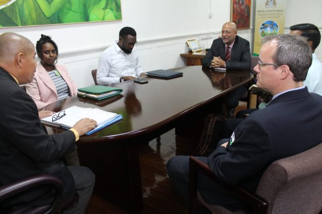 Minister of Social Cohesion with Responsibility for Culture, Youth and Sport, Dr. George Norton and his team meet with Cricket West Indies