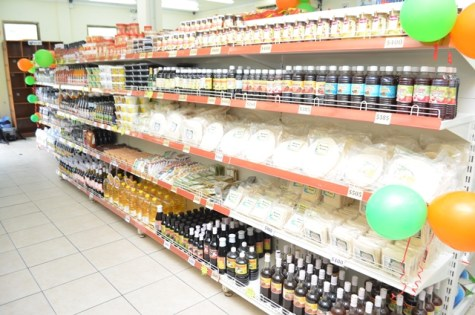 Products sold in the Guyana Shop.
