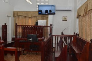 Inside the Sexual Offences Court at the Berbice High Court in New Amsterdam