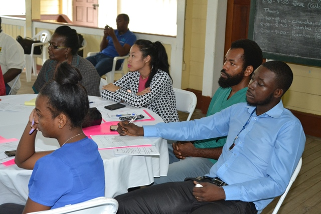 Youths from various sections of the Public Sector gathered at the workshop.