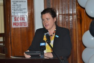 UNICEF resident representative to Guyana and Suriname, Sylvia Fouet, while addressing the gathering at the launch of the Sexual Offences Court in Berbice