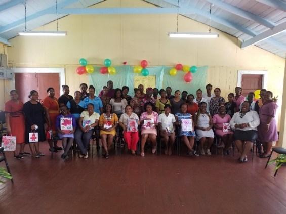 Honoured working mothers from the West Demerara Regional Hospital.