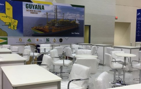 Guyana's booth.