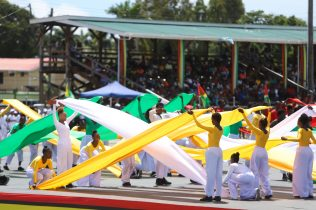 The nation's young people led a vibrant cultural display during Independence celebrations at Durban Park