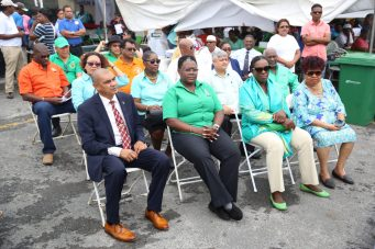 From left: Minister of Business, Haimraj Rajkumar, Minister of Youth Affairs, Simona Broomes, Minister of Education, Nicollette Henry, Minister of Social Protection, Amna Ally