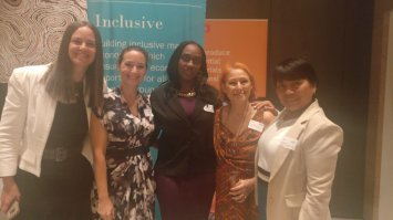 Belina Charlie and colleagues during the closing ceremony of the inaugural International Women in Resources Mentorship Program; London, England