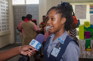 Akeiylah Thornhill, a pupil of North Georgetown Primary School.