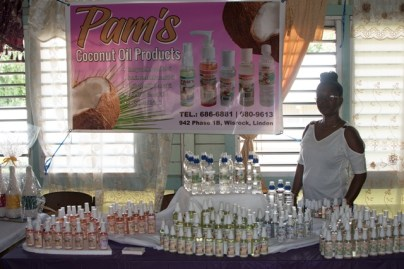 Booths at the fair, New Silvercity Secondary School, Silvercity, Linden, Region 10.