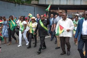 Guyanese in New York celebrating Guyana's 53rd. Independence Anniversary.