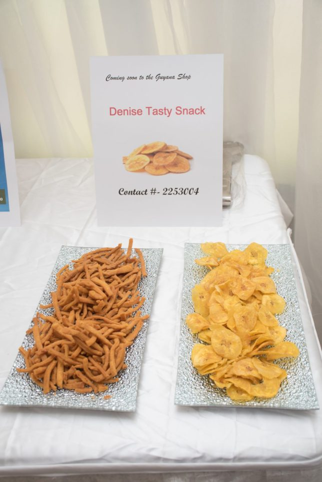 Plantain Chip and Chicken Foot Display from Denise Tasty Snack