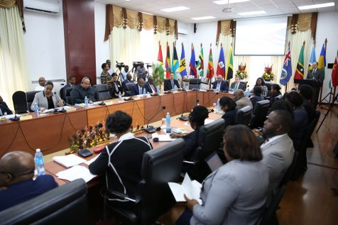 Delegates during the opening ceremony of the Sixth Meeting of CARICOM and Cuban Foreign Ministers