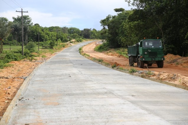 Portion of completed Bartica-Potaro road.