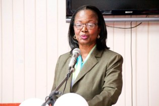 NIS General Manager, Mrs. Holly Greaves (Ministry of Education photo)