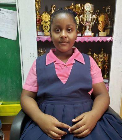Region 10, NGSA top student, Jasmine Simpson (523 marks)