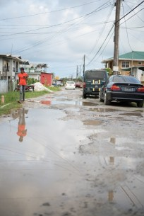 Residents lament the condition of roads in the community.
