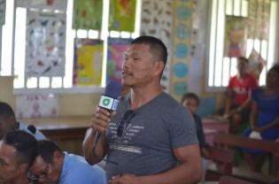 Member of Akawini Village Council, Esau Vansluytman