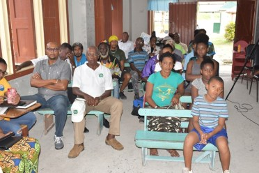 CDC members and Coomacka residents at the meeting