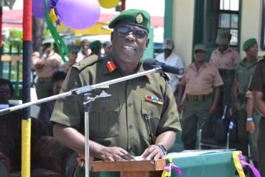 Chief of Staff, Brigadier Patrick West.