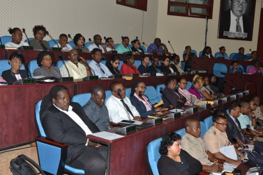 Stakeholders during the launch of the 2020 Budget Training Session at the Arthur Chung Conference Centre (ACCC).