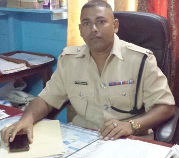 Guyana Police Force, G Division Commander Senior Superintendent Khali PareshramGuyana Police Force, G Division Commander Senior Superintendent Khali Pareshram