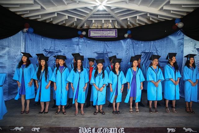 The graduating students.