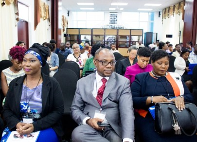 Regional educators at the opening of the three-day workshop.