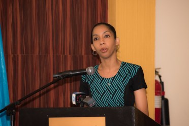 Child Protection Specialist attached to UNICEF, Patricia Gittens