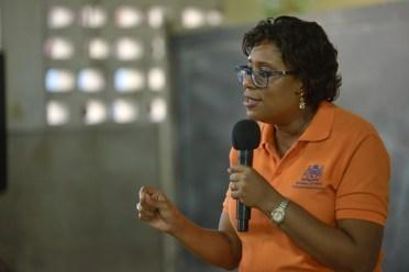 Minister of Public Telecommunications, Hon. Catherine Hughes.