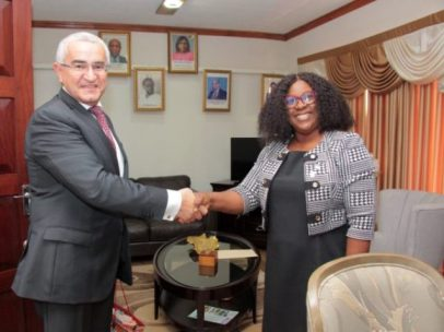 His Excellency Elkhan Polukhov pays courtesy visit to Minister of Foreign Affairs, Hon. Dr. Karen Cummings.
